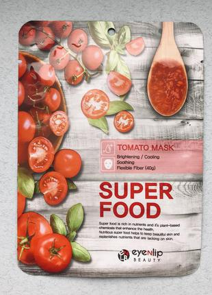 Тканевая маска с экстрактом томата eyenlip super food tomato mask