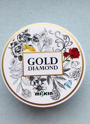 Гидрогелевые патчи с золотом и розой miskin gold diamond rose ...