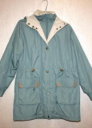 Парка куртка зеленая демисезонная зимняя с капюшоном зеленая c...