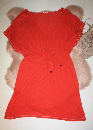 Красное платье (пляжная туника) papaya weekend  (к035)