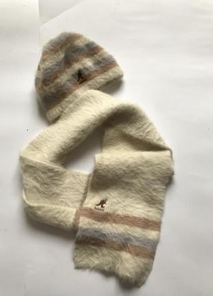 Набор шапка и шарф ангора шерсть