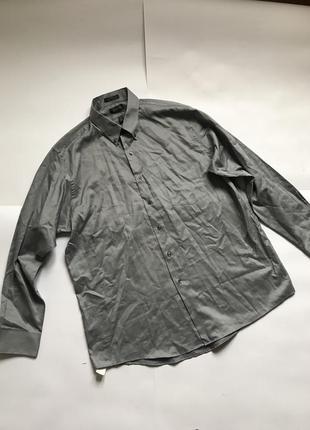 Мужская серая рубашка р.xl