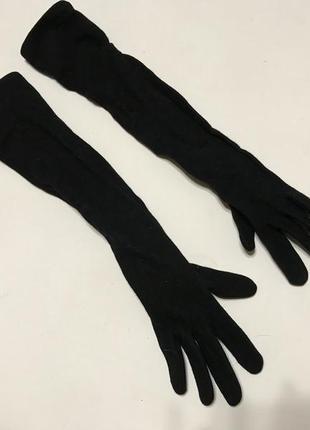 Длинные перчатки 100% шерсть