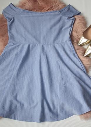 Платье голубое клеш солнце фактурное new look (к033)