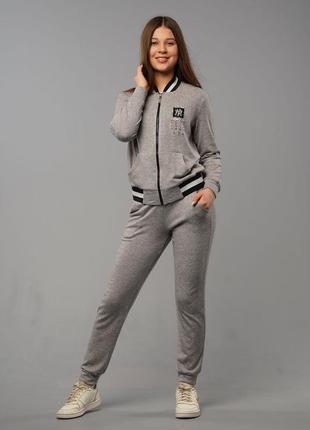 Дженнифер - детский спортивный костюм, цвет серый