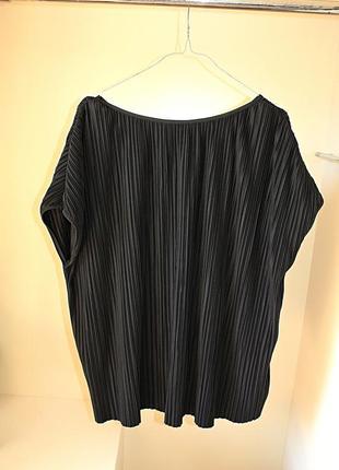 Черная блузка-плиссе оверсайз oversize батал большой размер tu...