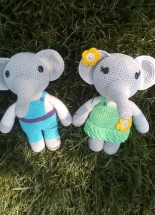 Слоненя Слон Пара Слоників