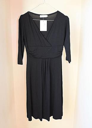Платье новое с биркой черное классическое верх на запах chelse...
