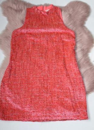 Платье плюшевое теплое розовое с замком river island (к041)