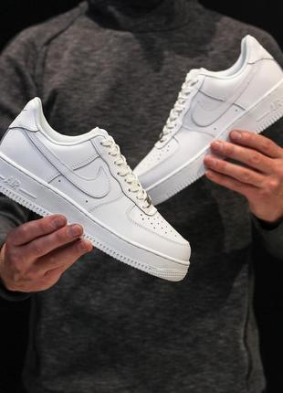 Мужские белые кроссовки найк nike air force