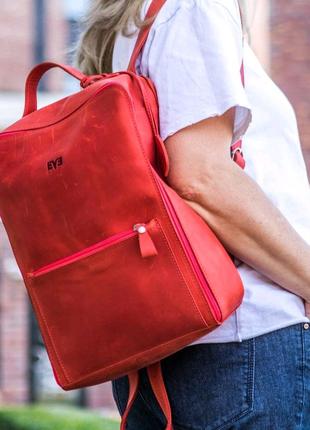 """Кожаный женский рюкзак """"Фото"""" Level"""