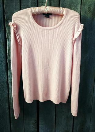 Sale -50% нежный свитерок, джемпер с рюшами от atmosphere