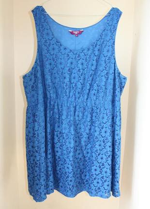 Платье летнее синее кружево батал большой размер new look (к054)