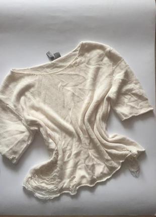 Трендовая рваная футболка h&m