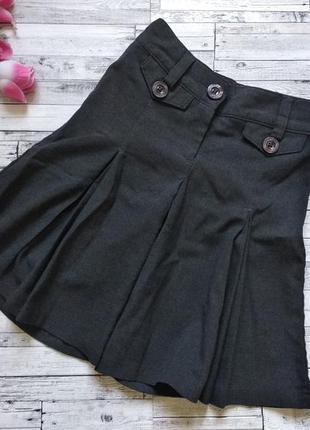Школьная юбка шорты next на девочку серая