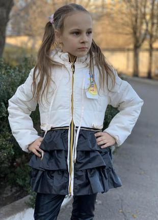 Детская куртка демисезонная на девочку производство украина фи...