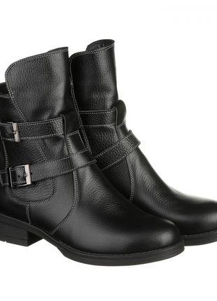 Скидка до 24.04!!  весенние ботинки черного цвета