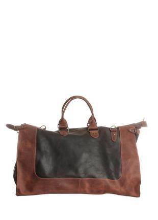 Дорожная мужская сумка из натуральной кожи crazy horse