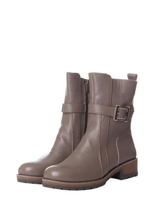 Скидка до 24.04!!  ботинки женские на зиму из натуральной кожи