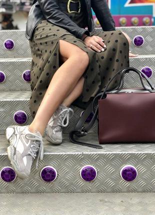 2в1 стильная женская сумка малика бордового цвета