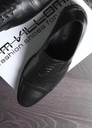 Мужские туфли из натуральной кожи без шнурков