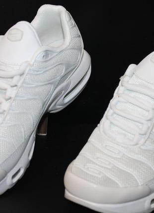 Белые кроссовки nike air max tn plus white