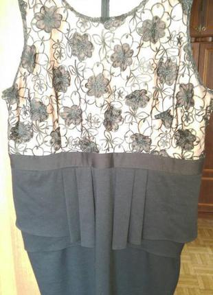Платье с баской george 54-56 размера