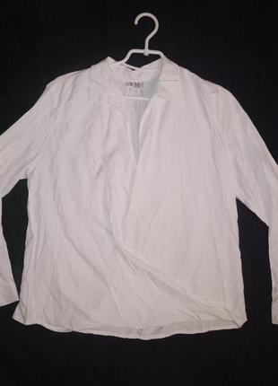 Рубашка женская белая на запах