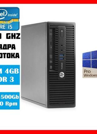 Комп'ютер HP 400 G2 SFF/Core i5 4590 3.7Ghz/RAM 4gb/HDD 500Gb