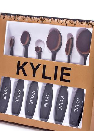Набор кистей для макияжа Kylie - 6 шт