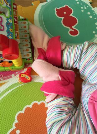 🎀🎁👍  13 см тёплые флисовые пинетки на 12-18 месяцев, новые