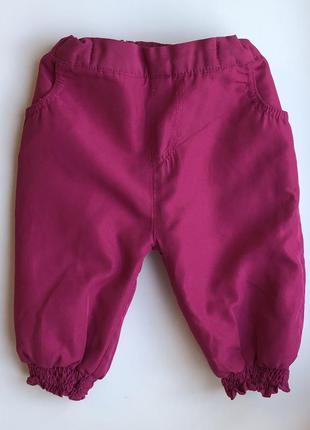 Утеплённые штаны на флисе размер 68