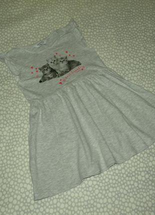 Платье котики 6-7 лет