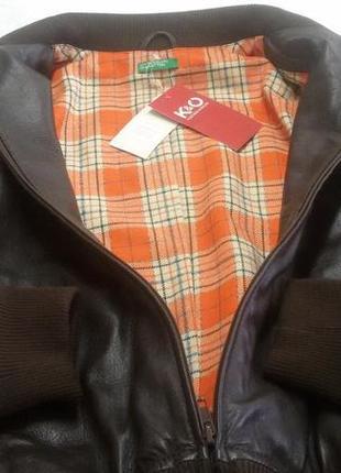 Кожанная куртка benetton