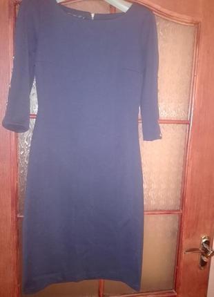 Платье футляр красивого синего цвета!