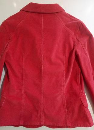 Ярко-коралловый пиджак жакет из микровельвета/ mango/