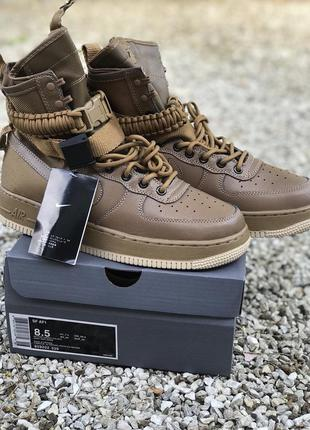 Мужские кроссовки nike special field air force 1 brown