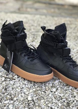Мужские кроссовки nike special field air force 1 чёрные