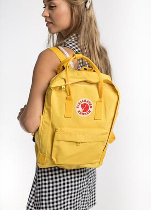 Рюкзак fjallraven kanken classic 16 л  warm yellow