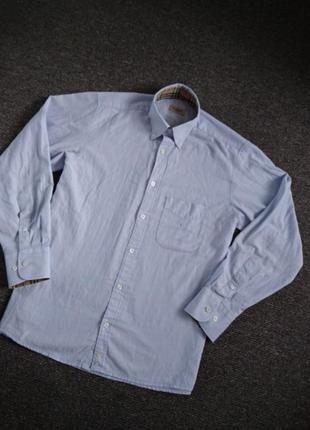 Мужская рубашка голубого цвета burberry оригинал.