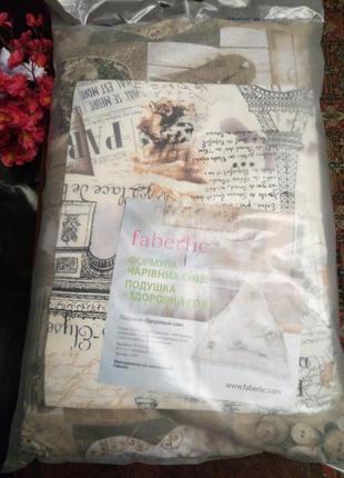 Ортопедическая подушка из гречневой лузги.faberlic