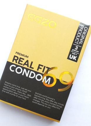 """Плотнооблегающие презервативы EGZO """"Real fit"""" 3 шт."""