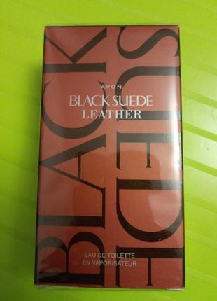 Туалетная вода avon black suede leather