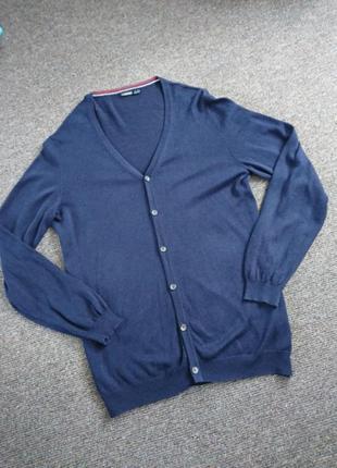 Синяя кофта кардиган мужская