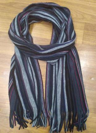 Полосатый шарф