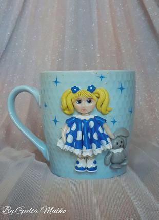 Чашка с девочкой