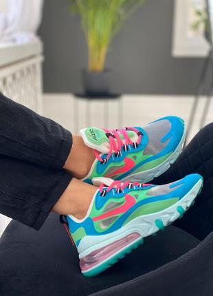 "Кроссовки nike air max 270 react ""blue lagoon"""