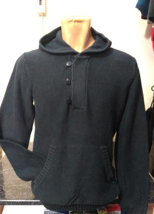 Худи, свитер с капюшоном h&m 100% коттон размер s