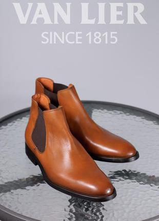 Кожаные челси van lier, голландия 44р мужские ботинки туфли