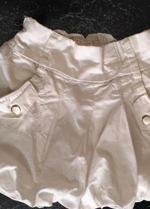 Пышная белая юбка 100% коттон